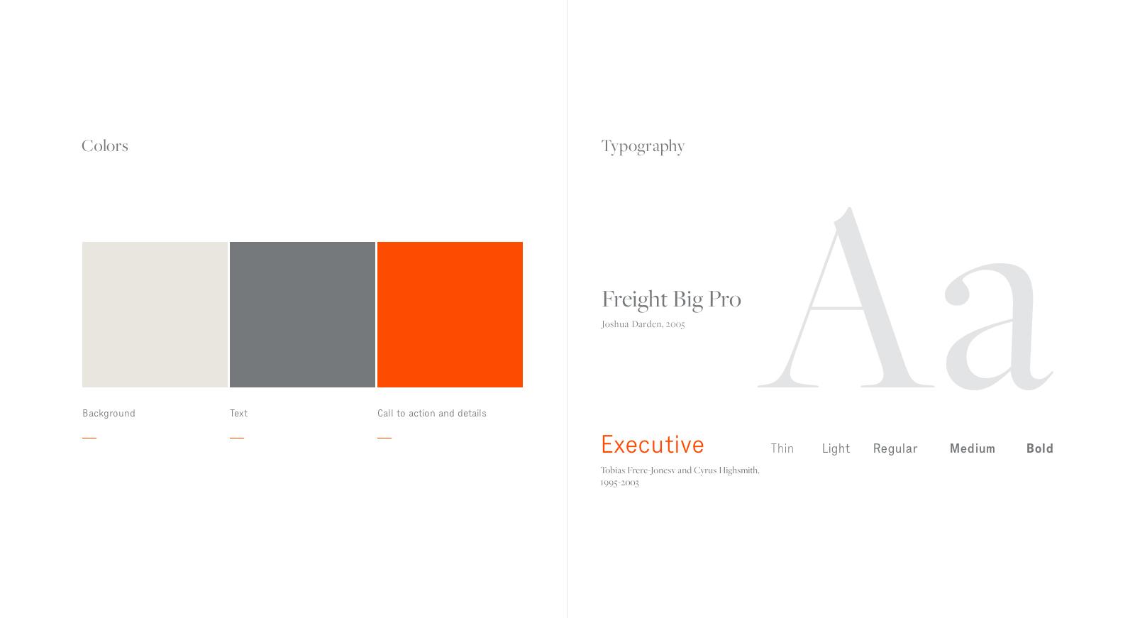 Poltrona Frau - Web typography